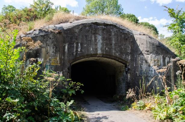 Форт у Тараканові, вхід